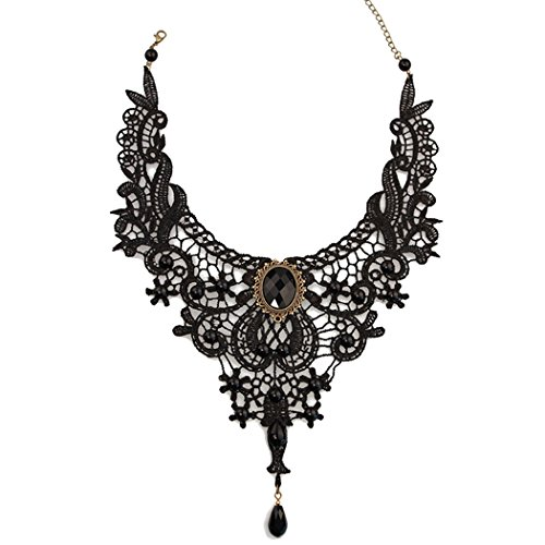 time-pawnshop-luxurious-black-lace-elegant-adjustable-lady-clavicle-necklace