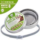 ShinyAmber Tierbedarf Hundehalsbandschutz Anti Floh Moskito Zecken Läuse Natürliche Entwurmung ätherisches Öl für Katze und Hund (Katzenabschnitt)