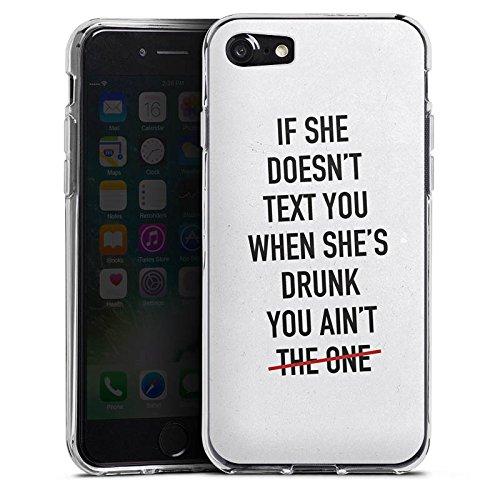 Apple iPhone X Silikon Hülle Case Schutzhülle Sprüche Liebe Party Silikon Case transparent