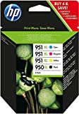 Image of HP 950XL/951XL ink cartridge black and tri-colour high capacity combo-pack