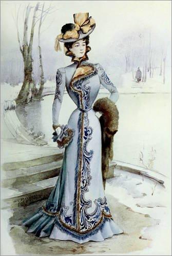 Forex-Platte 80 x 120 cm: Kostüm für den (Pariser Kostüm)