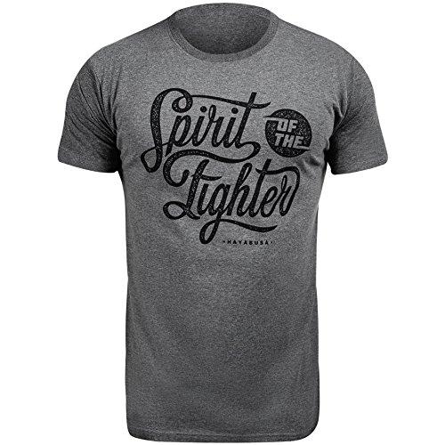 Hayabusa T-Shirt Classic Spirit of the Fighter, Größe:2XL;Farbe:Grey