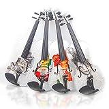 aliyes 2018handgefertigt Akustische Violine 44voller Größe Kit Premium Massivholz Violine mit Fall, Koffer, Bogen, Kolophonium, strings-kit NHS-3004