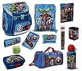Familando Avengers Schulranzen-Set 15tlg. Scooli Campus Fit mit Sporttasche Federmappe und Regenschutz