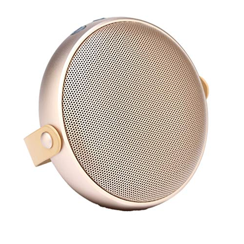 Drahtlose Bluetooth-Speaker, Wireless Metal Mini Cannon, Subwoofer Mini Portable Bluetooth Speaker, USB Interface, Button Operation, Support TF Card,Gold