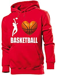 Sport - I Love Basketball - Cooler Comedy Homme Sweats à capuche Small - XX-Large - Deluxe