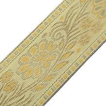 Cinta de tela bordada beige ajuste que teje la cinta Sari Frontera de costura por el astillero