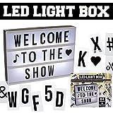 (6048) LED Light Box Lichtbox Leuchtkasten Retro Anzeigetafel Leuchtbuchstaben