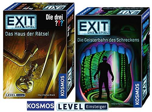 EXIT - Staffel VI: Geisterbahn des Schreckens + Kosmos Spiele 694043 Spiel - Das Haus der Rätsel