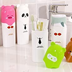 ystore Travel Toothbrush Holder Cover Case Set of 3, Assorted Colour