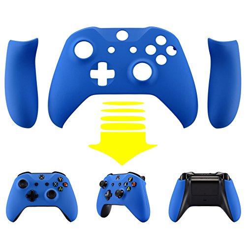 eXtremeRate Schutzhülle Soft Touch Obere Case Hülle Cover Schale Gehäuse mit 2 Seitenteilen für Xbox One S/Xbox One X Controller(Blau)