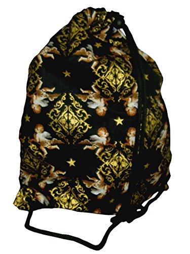 Engel Sterne Gold Turnbeutel Hipster String Bag Wäschebeutel (Gold Hipster)