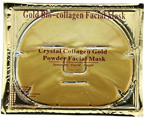 5 X Gold Collagène Masque - anti-âge, Rides, Hydratant, Taches, Raffermissant, Tonifiant, Cernes, Lissage de la Peau, Ascenseur Naturel
