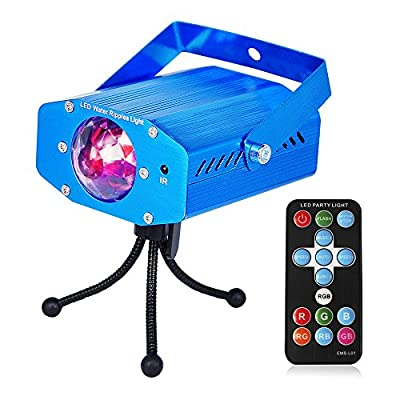 Party lights DJ Lights ZoiyTop 7 colors rotating disco sound activated Stage Led Strobe Lights for Home Birthday Disco Party Lights Wedding Easter Christmas Celebration light (with Remote Control) from ZoiyTop