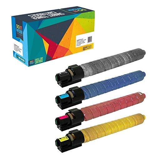 Doitwiser ® kompatible Tonerpatronen Set für Ricoh Aficio MP C4503 SP MP C4503 ASP MP C5503 SP MP C5503 ASP (841853 841856 841855 841854) - hohe Kapazität Schwarz 33.000 Seiten - Farben 22.500