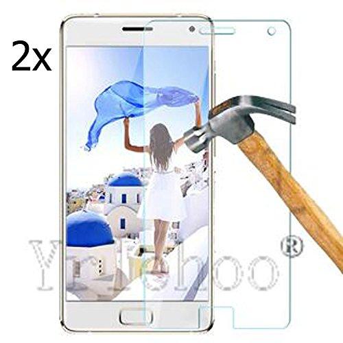 2x Tempered Glasfolie Schutzfolie für Lenovo ZUK Z2 Pro 5.2 Zoll Premium Screen Folie Protector Hartglas Bildschirmschutz Panzerfolie clear 9H