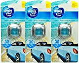 3 x Febreze / AMBI PUR car Autoduft lufterfrischer 2ml Ocean and Wind