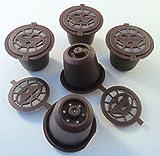 coffee2u rechargeable réutilisable pour dosettes capsules de café pour Nespresso-5Dosettes de Café-(compatible avec toutes les machines Nespresso de après octobre 2010)