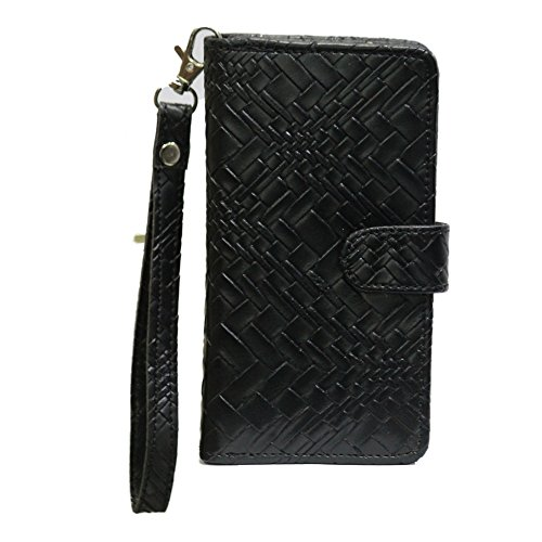 J Cover A9 Bali Leather Carry Case Cover Pouch Wallet Case For ZTE Blade S6 Lux Black