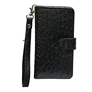 J Cover A9 Bali Leather Carry Case Cover Pouch Wallet Case For Lenovo LePhone K860 Black