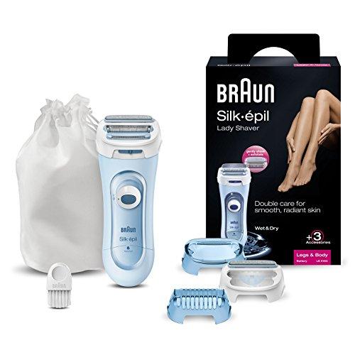 Braun Silk-épil Elektrischer Damenrasierer LS 5160 mit 3 Aufsätzen