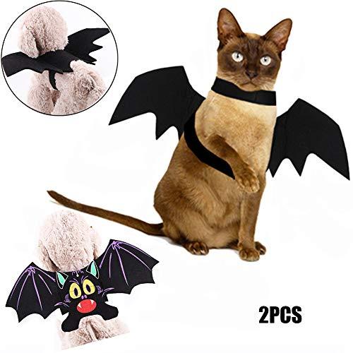 Cosplay Kostüm Verschiedene - DHQSS Halloween Kostüm Für Hunde, Fledermaus Mit Flügeln Passend Für Cosplay Verschiedene Festivals Katzen und Hunde Können Tragen (2PCS),S