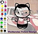 Kitty Star Trek Sticker VW OEM Fun Honda Hello Aufkleber Hater Domo Bitch Race Power Honda PS JDM