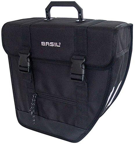 Basil Unisex- Erwachsene Gepäckträgertasche Tour-Single Rechts Fahrradtasche, Black, 33 cm x 14 cm x 33 cm