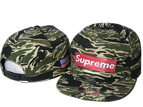 Hot Fashion Unisex camouflage Supreme Hat with Red Logo