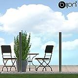 bijon® Glassichtschutz Windschutz Glaszaun Klarglas PG4 E | 1190x1135mm