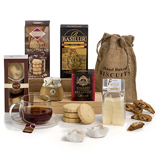 Traditional Tea Time Treats Hamper Box - Includes UK Delivery