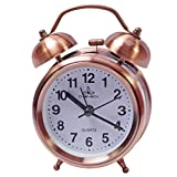 #4: Shimal Exclusive Antique Ana Log Gift Table Twin Bell Wall Desk Self Loud Sound Clock Watch With Night Light & Alarm