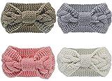 Pacrate Stirnband Damen Winter Warmes Knoten Gestrickte Stirnbänder Elastisches Frauen Haarband...