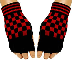 Gothic Handschuhe - Red Chess Pattern