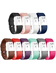 Vancle Fitbit Charge 2 Bracelet, Édition Spéciale Bracelets de Remplacement Réglables pour Fitbit Charge 2(Sans Traqueur)
