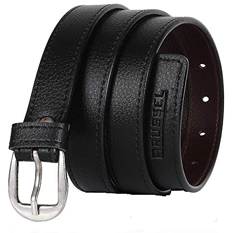 BRUSSEL : PU Leather Belt for Girl and Ladies Free Size (Black, upto 40 Size)