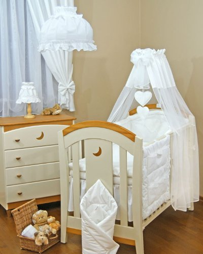 STUNNING  BABY COT COTBED CANOPY DRAPE /& HOLDER   270cm wide