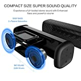 from Mighty Rock Mighty Rock 6110 Bluetooth Speakers Portable Wireless Speaker with 16W Rich Deep Bass, 12 Hours Playtime and Strong Aluminum-Alloy Shell Support TF Card(Black) Model 6110