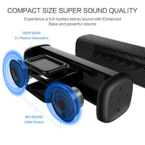 Mighty-Rock-6110-Bluetooth-Speakers-Portable-Wireless-Speaker-with-16W-Rich-Deep-Bass-12-Hours-Playtime-and-Strong-Aluminum-Alloy-Shell-Support-TF-CardBlack