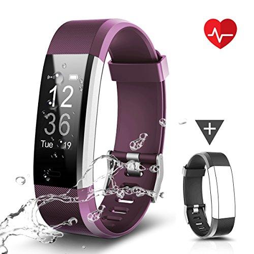 Fitness Armband, LATEC Fitness Tracker Uhr mit Pulsmesser, Wasserdicht IP67 Aktivitätstracker Pulsuhren Bluetooth Smart ArmbandUhr Schrittzähler mit Schlafmonitor Kalorienzähler...