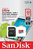 SanDisk Ultra 32 GB MicroSDHC UHS-I Memory Card with SD Adapter - Standard Packaging