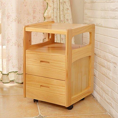 BOBE SHOP- Nachttisch - Nachttisch aus Holz, Kleine Kiefer Leicht zu bedienende Schränke, Nachttisch mit Schubladen, Schrank, 22.5 Zoll Höhe ( Farbe : Yellow-#1 )