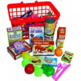 Grocery Basket with Play Food