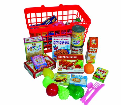 Peterkin UK Ltd Grocery Basket with Play Food