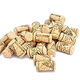 Enkrio Vin en liège NEUF Bouchons en liège aggloméré Naturel droites Bouchon Bouchons en liège pour Bottling de vins ou Bulk Craft Bouchons en liège, plastique, naturel, 1-3/5' x 4/5'