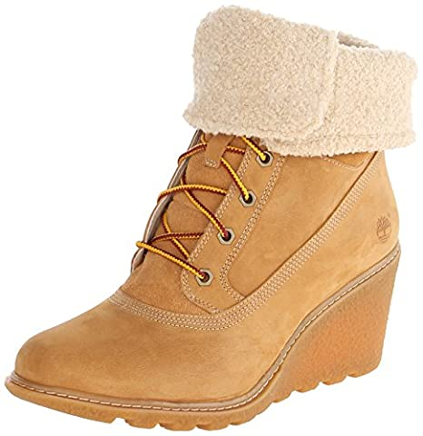 Timberland Ek Amston Roll Top, Boots compensées femme, Marron (wheat),