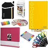 Stampante istantanea Polaroid Mint (Giallo) - Pacchetto Art + 20 fogli di carta Zink + 8x8 di tessuto + borsa + 12 penne a doppio taglio + 6 forbici decorative + nastro Washi