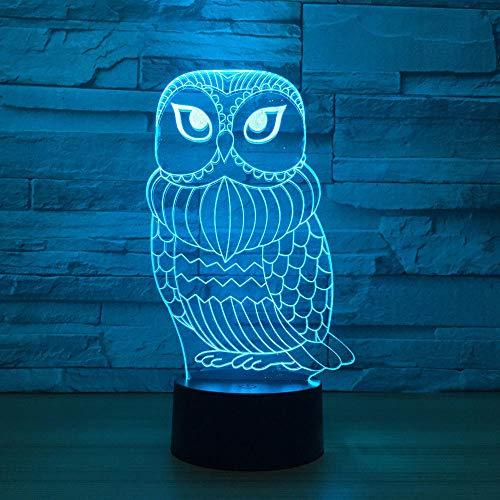 3D Nette Eule 7 Farbe Led Nachtlampen Für Kind Touch Led Usb Tisch Lampara Baby Schlafen Nachtlicht Drop Ship Led Mit Sensor Stimmung Lampe Schreibtischlampe Geschenke M240 Usb