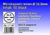 deaL-Toys 50 Münzkapseln 32,5mm, Geeignet für 10 DM, 10 Euro / 20 Euro Deutschland, 200 Euro Goldmünze (2002)