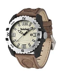 Timberland TBL.13856JPBS/07 - Reloj analógico de cuarzo para hombre, correa de cuero color marrón de Timberland